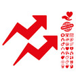trends icon with valentine bonus vector image vector image