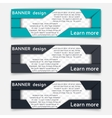 Web banner design vector image vector image
