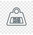 weight concept linear icon isolated on vector image vector image