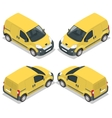 Set of icons small truck for transportation cargo vector image