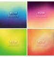 Abstract colorful blurred backgrounds set 10 vector image