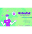 futuristic virtual reality banner vector image