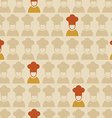 Restaurant chef seamless pattern background vector image