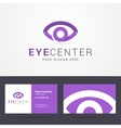 Logo and business card template with eye sign vector image