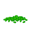 A Stack of Fresh Green Mung Beans vector image vector image