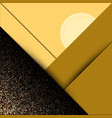 abstract geometric gold backgroundgold banner vector image