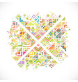 abstract geometric with mix variety lines dots vector image vector image