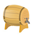barrel beer isolate on a white vector image