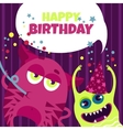 birthday monsters vector image vector image