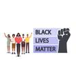 black lives matter blm concept skinned vector image