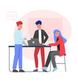 business colleagues working together office vector image