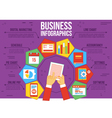 Business infographics vector image vector image