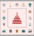 cake symbol icon elements for your design vector image vector image