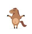 cartoon horse mascot character vector image vector image