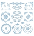 ChristmasNew year decor setWinterWreath frames vector image