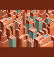 cityscape of new york isometric perspective vector image vector image