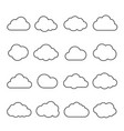 clouds line art icon vector image vector image