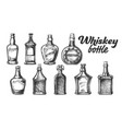collection of scotch whisky bottle set vector image