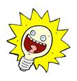 comic cartoon lightbulb vector image