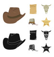 cowboy hat is searched cart bull skull wild vector image vector image