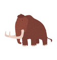 cute woolly mammoth isolated on white background vector image vector image