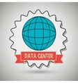 data center global world vector image