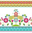 Decorative seamless floral border vector image
