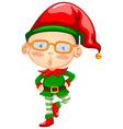 Elf wearing red hat vector image vector image
