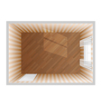 empty room top view vector image vector image