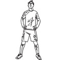 fashion sketch of man vector image vector image