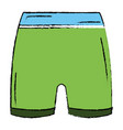 female gym short wear icon vector image vector image
