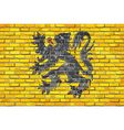 Flag of Flanders on a brick wall vector image vector image