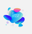 fluid abstract dynamic shapes trendy badges vector image