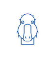 funny duck line icon concept funny duck flat vector image vector image