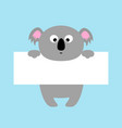 funny koala hanging on paper board template big vector image vector image