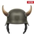 German Army helmet with horns vector image vector image
