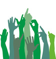 Green hands icons vector image vector image
