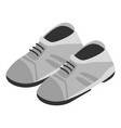 grey shoes icon isometric style vector image