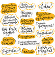 handdrawn lettering set congratulations to vector image