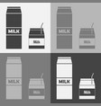 icon a package milk set two packages of vector image vector image