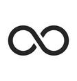 infinity icon vector image vector image