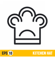 line icon kitchen hat vector image