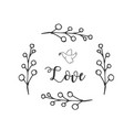love bird grass white background image vector image