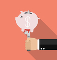 Man knifed piggy bank vector image vector image