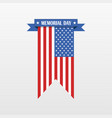 memorial day banner isolated vector image vector image