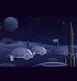 moon surface flat earth vector image vector image