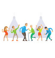 nightclub old and young people dancing at disco vector image vector image