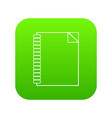 notebook icon green vector image vector image