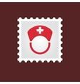 Nurse medical stamp vector image