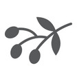 olives glyph icon food and vegetable olive vector image vector image